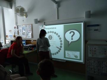 La pizarra digital interactiva de APDP - L'Espiga potencia el interés de los alumnos