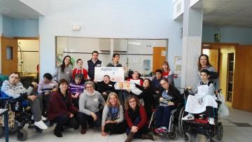 Visita de los chicos de Aspace Navarra a los chicos de Aspace Huesca