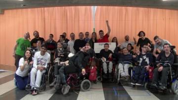 Visita de nuestros socios de Aspace Badalona