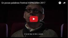 'En pocas palabras', de Guillermo Rivas, se alza con el premio al mejor cortometraje de ASPACEfilm 2017